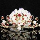 Golden Headpiece; Bridal Veil ;Opera accessories ;Bridesmaid Tiara;Teen girl Sweetheart Tiara #1395g
