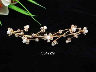 Opera accessories ;Bridal Veil ;Wedding Headpiece;Golden Bridesmaid Comb;Teen girl Tiara #5472g