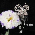 Bridesmaid Hair accessories ;Opera Tiara;Bridal Comb; Silver Teen Girl Comb ;Bride Tiara#668s