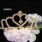 Bridesmaid Hair accessories ;Opera Tiara;Bridal Comb;Golden Teen Girl Comb ;Bride Tiara#6880g