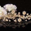 Bridesmaid Hair accessories ;Opera Tiara;Bridal Comb;Golden Teen Girl Comb ;Bride Tiara#7188g