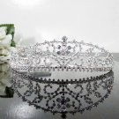 Floral Fancy Silver Tiara ;Bridal Comb; Bridesmaid Hair accessories ;Opera Tiara;Bride Tiara#6436