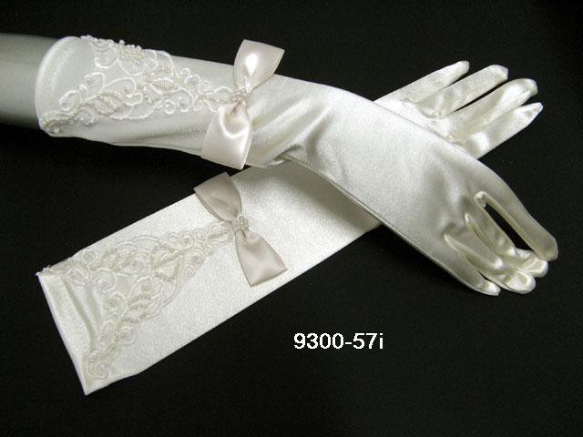 Elbow Gloves; Fashion Accessories;Floral lace satin Bridal Gloves;Wedding Bride Accessories#57i