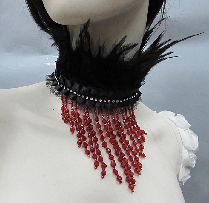 Feather collar ; Bridal or dancer occasion accessories;Dramatic Feather Choker;Fluffy Necklace#8