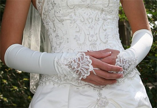 Elbow Gloves; Fashion Accessories;Floral lace satin Bridal Gloves;Wedding Bride Accessories#64w