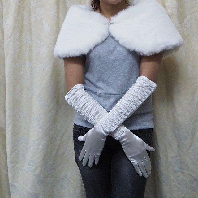 Long Gloves; Fashion Accessories;white Satin Bridal Gloves;Wedding Bride Accessories#22w