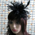 Bridesmaid Accessories;Wedding Hat; Opera Fascinator;Handmade Occasion Hat#23bk