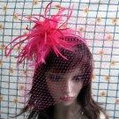 Bridesmaid Accessories;Wedding Hat; Opera Fascinator;Handmade Occasion Hat#24