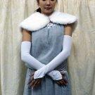 "18"" Finger-less white Gloves;Opera bridal Gloves;Wedding Glove; Bridesmaid Accessories#120w"