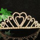 Golden Wedding Headpiece ;Opera Tiara;Bridesmaid Hair accessories;Bridal Bride regal#8254g