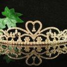 Glamour Golden Wedding Headpiece ;Opera Dancer Tiara;Bridesmaid Hair accessories#8758g
