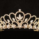 Glamour Golden Wedding Headpiece ;Opera Dancer Tiara;Bridesmaid Hair accessories#767g