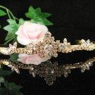 Glamour Golden Wedding Headpiece ;Opera Dancer Tiara;Bridesmaid Hair accessories#1551g
