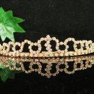 Glamour Golden Wedding Headpiece ;Opera Dancer Tiara;Bridesmaid Hair accessories#2579g