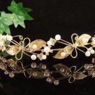 Foral Golden Wedding Headpiece ;Opera Dancer Tiara;Bridesmaid Hair accessories#4340g