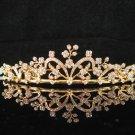 Elegance Golden Wedding Headpiece ;Opera Dancer Tiara;Bridesmaid Hair accessories#4737g