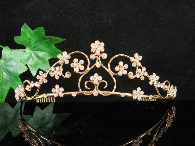 Floral Golden Wedding Headband ;Opera Dancer Tiara;Bridesmaid Hair accessories#5528g