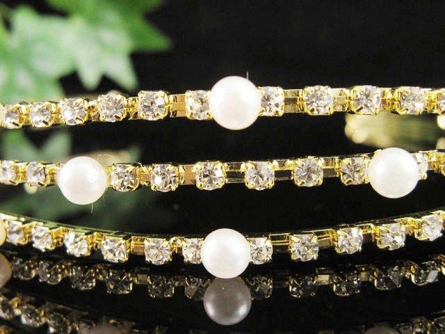 Fancy Golden Wedding Headband ;Opera Dancer Tiara;Bridesmaid Hair accessories#1290g