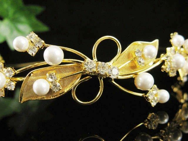 Fancy Golden Wedding Headband ;Opera Dancer Tiara;Bridesmaid Hair accessories#1606g