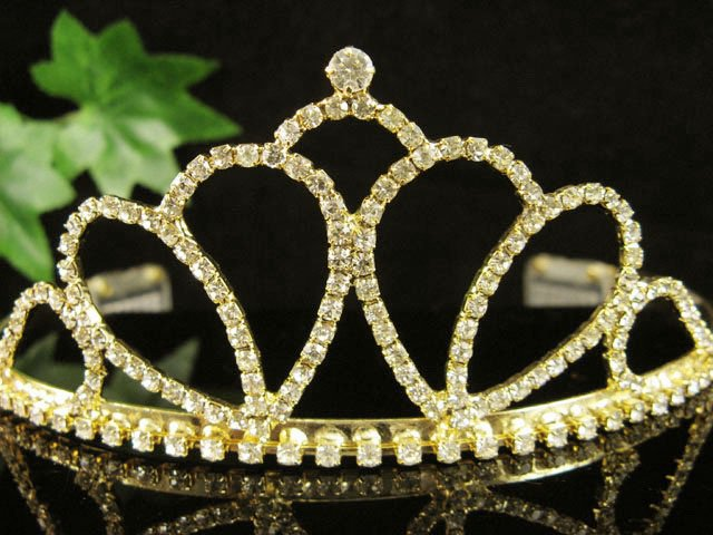 Fancy Golden Wedding Headband ;Opera Dancer Tiara;Bridesmaid Hair accessories#956g
