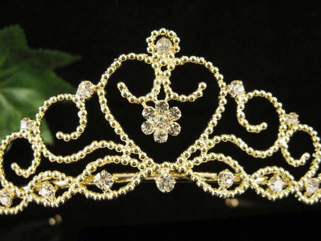 Glamour Golden Wedding Headpiece ;Opera Dancer Tiara;Bridesmaid Hair accessories#977g