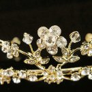 Alloy Glamour Golden Wedding Headpiece ;Opera Dancer Tiara;Bridesmaid Hair accessories#1175g
