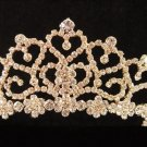 Floral Glamour Wedding Headpiece ;Crystal Bride Regal Tiara;Party Occasion Hair accessories#1437g