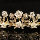 Floral Glamour Wedding Headpiece ;Crystal Bride Regal Tiara;Party Occasion Hair accessories#1513g