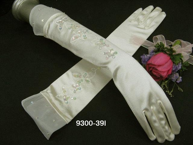 Long Glamour french Lace ivory bridal gloves;wedding gloves;opera;dancer Accessories #39i
