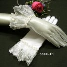 "10"" cute ivory bridal gloves;short organza wedding gloves;opera;dancer Accessories #15i"