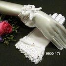 Fancy ivory bridal gloves;short organza wedding gloves;opera;dancer Accessories #17i