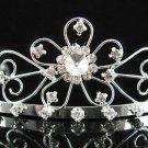 Bride tiara; sparkle crystal wedding bridesmaid accessories silver metal rhinestone headpiece #65s