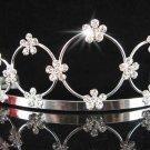 Bride tiara; sparkle crystal wedding bridesmaid accessories silver metal rhinestone headpiece #708s