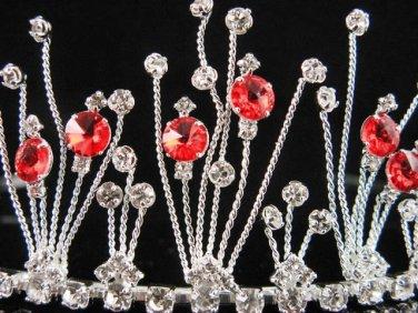 Bride tiara; sparkle crystal wedding bridesmaid accessories silver metal rhinestone headpiece #9860R