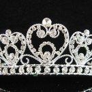 Bride tiara; sparkle crystal wedding bridesmaid accessories silver metal rhinestone headpiece #8477s