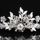 Alloy floral bridesmaid accessories;Bride tiara; crystal wedding silver rhinestone headpiece #6571s