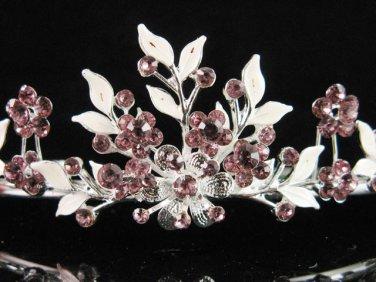 Alloy floral bridesmaid accessories;Bride tiara; crystal wedding silver rhinestone headpiece #6571pu