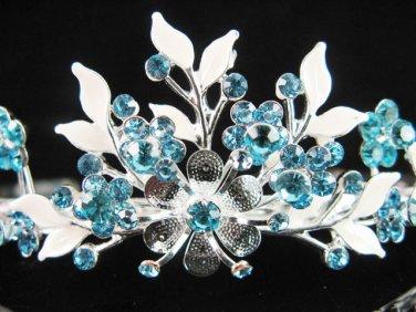 Alloy floral bridesmaid accessories;Bride tiara; crystal wedding silver rhinestone headpiece #6571b