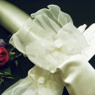 bridesmaid accessories;Bride Cute Bow Short Gloves;wedding Gloves;opera dancer accessories #7i