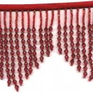 "*free shipping** Beaded fringe 38"" width scallop or wave glass beads or acrylic;lamp parts #f019r"