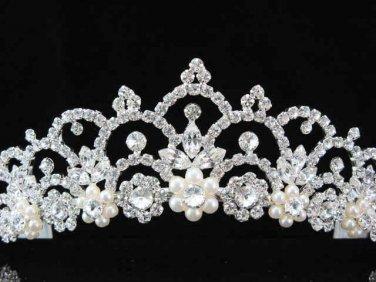 Pageant Bridal Tiara;Wedding Rhinestone Tiara;Bride Regal Tiara;Party Occasion Hair accessories#3053