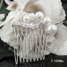 Handmade sweetheart Bridal silver red crystal comb veil,wedding tiara headpiece accessories #1048s