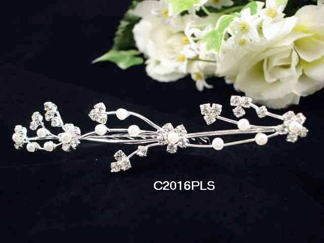 Handmade Bridal silver crystal comb ;wedding tiara;bride headpiece ;opera accessories #2016PL