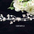 Handmade Bridal silver crystal comb ;wedding tiara;bride headpiece ;opera accessories #2016PL