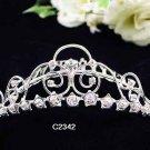 Handmade Bridal silver crystal comb ;wedding tiara;bride headpiece ;opera accessories #2342