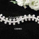Handmade Bridal silver crystal comb ;wedding tiara;bride headpiece ;opera accessories #2645