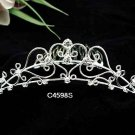 Handmade Bridal silver crystal comb ;wedding tiara;bride headpiece ;opera accessories #4598s