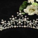 Handmade Bridal silver crystal comb ;wedding tiara;bride headpiece ;opera accessories #2096s