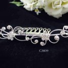 Handmade Bridal silver crystal comb ;wedding tiara;bride headpiece ;opera accessories #3839s