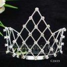 Huge Bridal silver crystal comb ;wedding tiara;bride headpiece ;opera accessories #2413